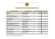 ELENCO MANIFESTAZIONI CERTIFICATE - Aefi