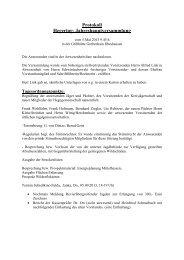 Protokoll Hegering- Jahreshauptversammlung