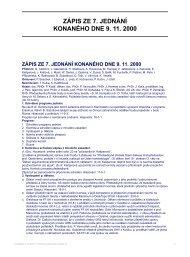ZÁPIS ZE 7. JEDNÁNÍ KONANÉHO DNE 9. 11. 2000