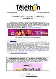 Le Téléthon online à la pointe de l'innovation et du Web 2.0