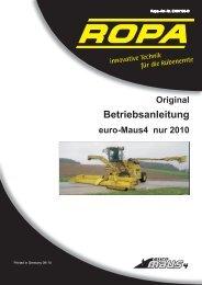 Bedienungsanleitung euro-Maus 4 Version 2010 - ROPA Fahrzeug