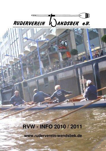 RVW - INFO 2010 / 2011 - Ruderverein Wandsbek e.V.