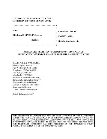 1 United States Bankruptcy Court Southern District Of New York