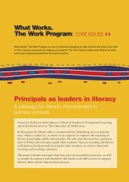 Core Issues 11: Principals as Leaders in Literacy - What Works