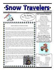 December 2010 - Fairbanks Snow Travelers