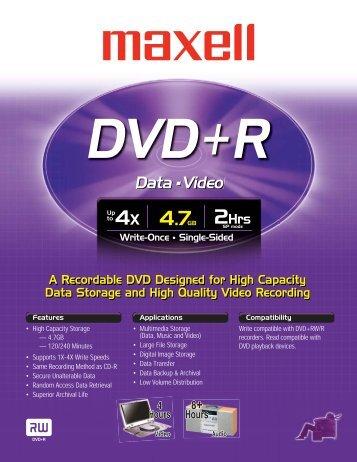 DVD+R - Maxell Canada