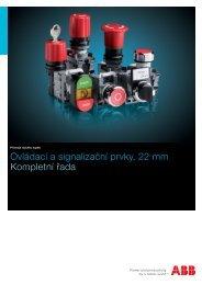 Ovládací a signalizační prvky, 22 mm Kompletní řada - Abb