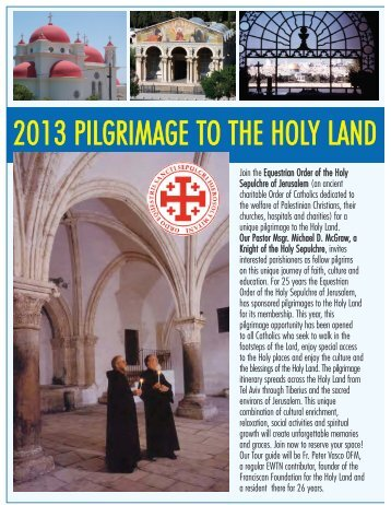2013 pilgrimage to the holy land - St. Joan of Arc Catholic Church