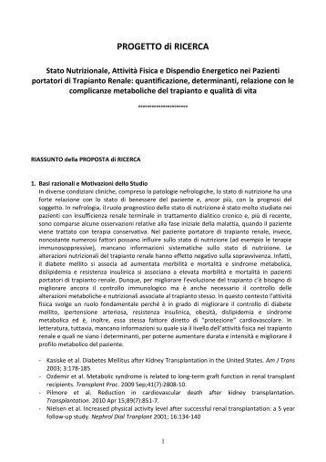 Scarica Protocollo Studio (PDF) - Epidemiologia Clinica e ...