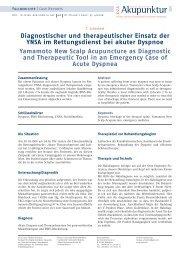 Diagnostischer und therapeutischer Einsatz der YNSA im ...