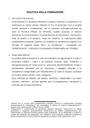 POLITICA DELLA FORMAZIONE - Aeronautica Militare Italiana