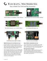 K2 Data Sheet - Elecraft