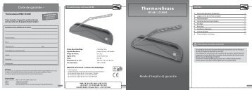 Thermorelieuse - monolith Support