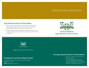 Ligon Research Center of Vision Needs The Ligon Research Center ...