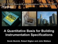 A Quantitative Basis for Building Instrumentation Specifications - NEES