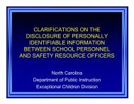 clarifications on the disclosure of personally identifiable information ...