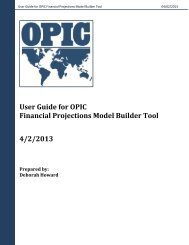 User Guide for OPIC Financial Projections Model Builder Tool 4/2 ...