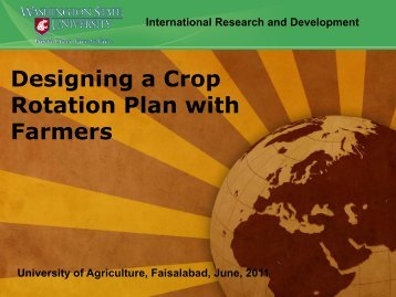Designing a Crop Rotation Plan with Farmers