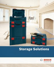 Storage Solutions - Bosch Power Tools