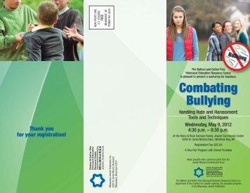 Bullying brochure 3 - Alverno College