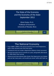 The National Economy - University of Nevada, Reno