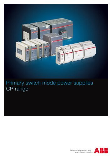 Primary switch mode power supplies CP range - Abb