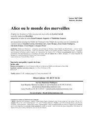 Alice ou le monde des merveilles - Théâtre de la Commune