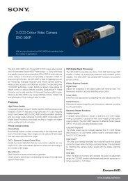 DXC-390P 3-CCD Colour Video Camera - ELVIA Medical