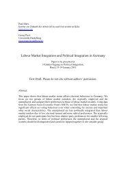 Labour Market Integration and Political Integration in Germany - Urge