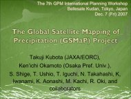 The Global Satellite Mapping of Precipitation (GSMaP) Project