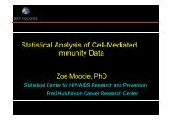 Statistical Analysis of Cell-Mediated Statistical ... - GLOBE Network