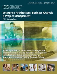 Enterprise Architecture, Business Analysis & Project Management