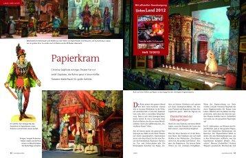 Artikel als PDF - paperback papiertheater