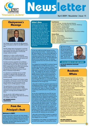 Issue 13 - Ekurhuleni West College
