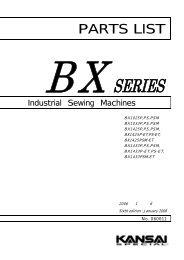 Parts book for Kansai BX series