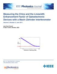 Measuring the Chirp and the Linewidth Enhancement Factor of ...