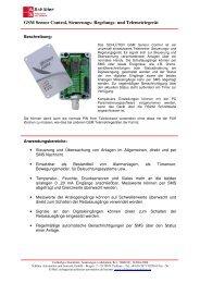 GSM Sensor Control - Schlüter Automation und Sensorik GmbH