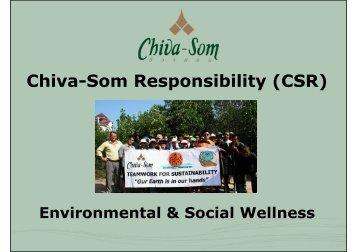 download sustainability report 2012 - Chiva-Som