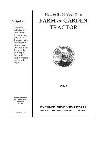 FARM or GARDEN TRACTOR - Green-Trust.Org