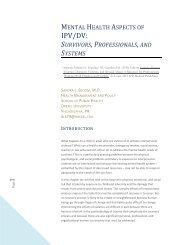IPV/DV: - The Sanctuary Model