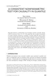 a consistent nonparametric test for causality in quantile - Humboldt ...