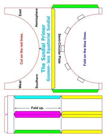 Gnomon-less Equatorial Sundial Kit - \