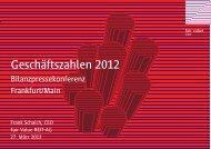 Geschäftszahlen 2012 - Fair Value REIT-AG