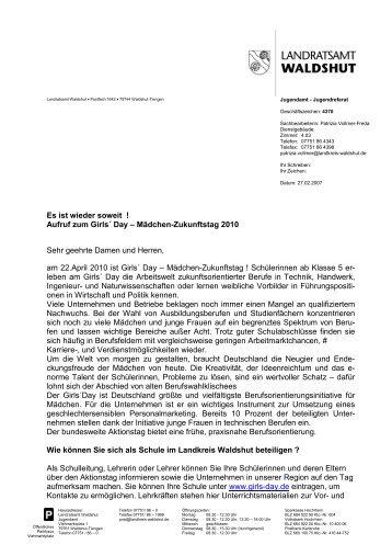 Girls' Day 2010 - Kreismedienzentrum Waldshut - Landratsamt ...