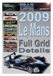 Le Mans 2009 - TRAX Motorsport Marketing