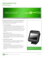 NCR RealPOS™ 70 POS Workstation Datasheet - Hospitality ...