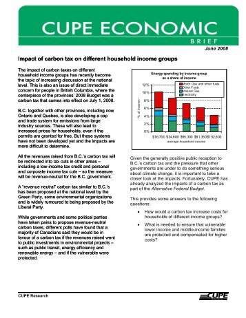 Impact of carbon tax on different household income groups