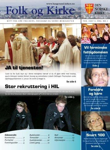 JA til tjenesten! Stor rekruttering i HIL - Haugesund Kirke - Den ...