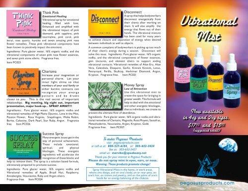 Brochure 1 - Pegasus Products