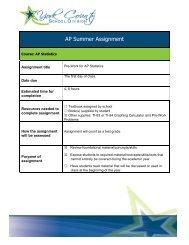 AP Statistics - York County Schools